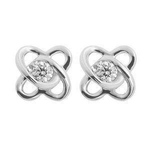 Jewelry - 2 ct round cut diamonds Intertwined hearts stud